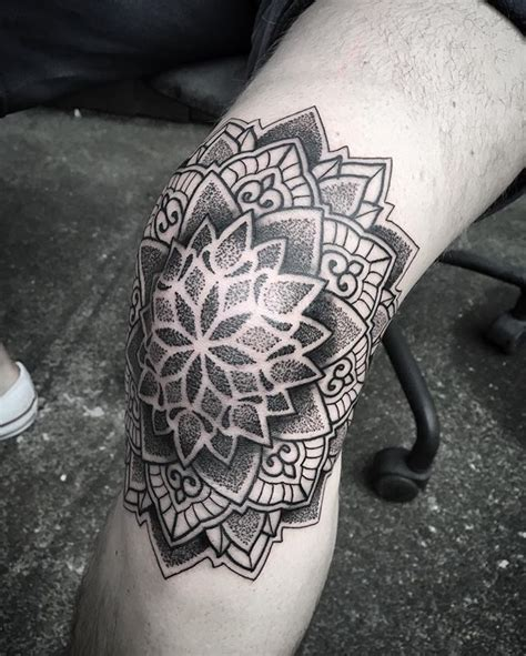 mandala ideas     knee tattoo mandala