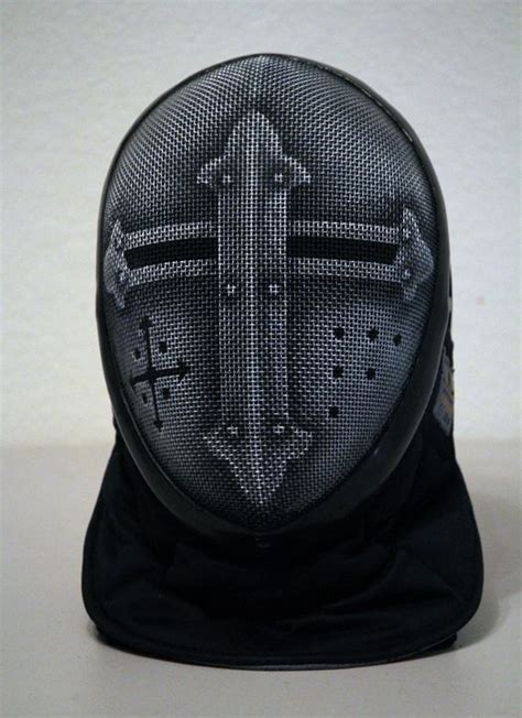 painted fencing mask fencing mask