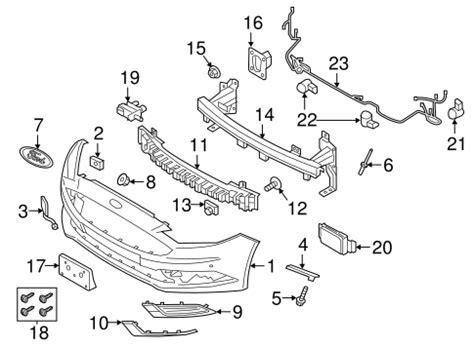 bumper components front   ford fusion quickparts