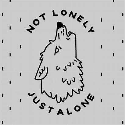 Wolf Lonely Giphy Alone Tweet Human