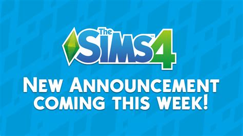 The Sims 4 New Announcement Coming This Week