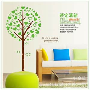 Green giving tree wall stickers home decor bedroom sticker