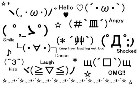 Meme Faces In Text Form - japanese emoticons kaomoji kawaii kakkoii sugoi