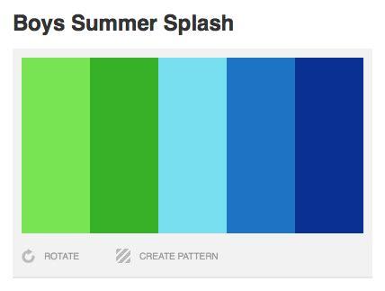 boy colors a splash of summer color design