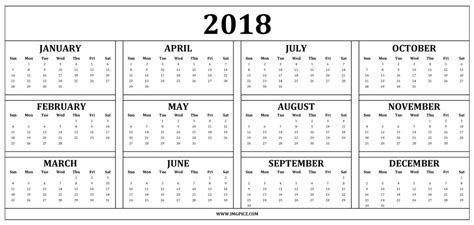 2018 calendar template calendarlabs 2018 calendar pdf printable 2018 calendars
