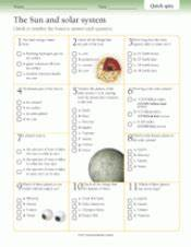 Quick Quizzes: Sun and Solar System Printable (Gr. 3-6 ...