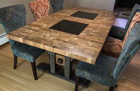 custom furniture butcher block style dining table