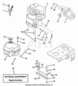 Poulan Pp16h46 Tractor Parts Diagram For Engine