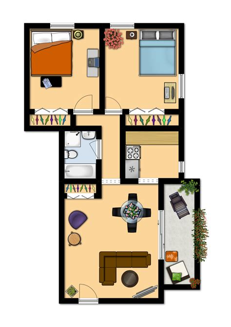 Two Floor Bed Du Apartments Floor Plans Rates South Apartments