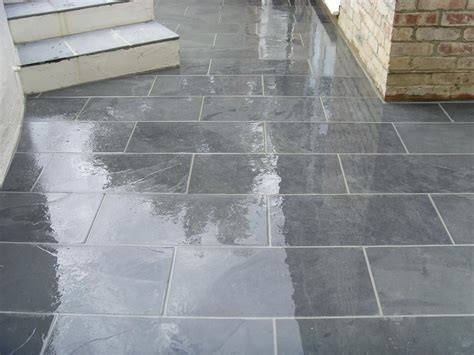 slate for backyard slate for patio flooring tile doctor showing the results of cleaning slate on a refinishing