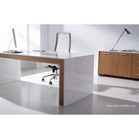 bureau direction blanc bureau de direction belesa finition laqué blanc et chêne