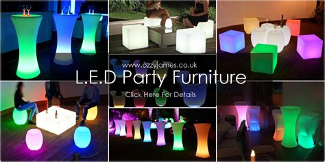 led furniture hire liverpool ozzy james parties