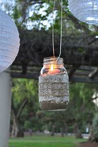 mason jar lantern DIY Mason Jar Lanterns - Make Life Lovely