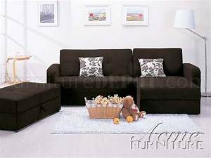 chocolate microfiber modern sectional sofa w storage With mushroom microfiber contemporary sectional sofa w ottoman