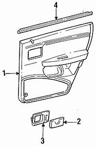 Ford Taurus Belt W U0026 39 Strip  Sedan  Station Wagon  Left