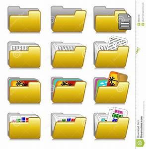 Folders Set - Computer Applications Folders 03 Stock ...