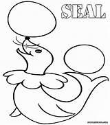 Seal Coloring Colorings sketch template