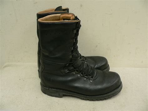Army Semi Boot austrian walking combat boots leather mountain army