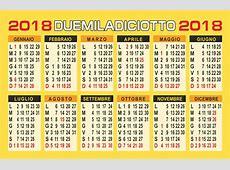Calendario 2018 annuale vettoriale Calendario 2019 Mensile