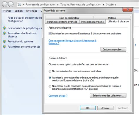 activer bureau à distance windows 7 activer bureau a distance 28 images comment activer le