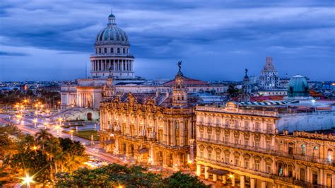 Cuban Background Wallpaper Lights Buildings Cuba Desktop