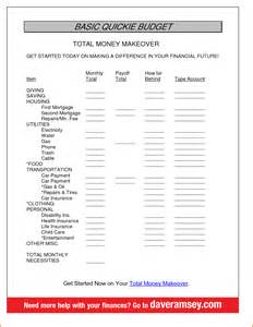 Dave Ramsey Worksheet Answers