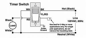Single Pole Timer Switch Wiring Diagram