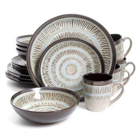 dinnerware gibson casual piece elite round sets durham walmart overstock stoneware dining tableware garden