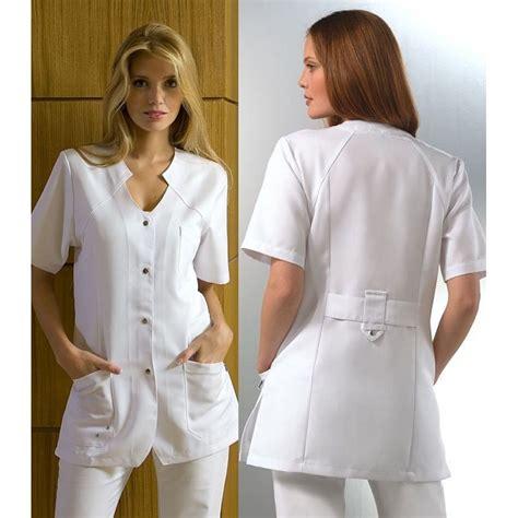 tunique blanche femme manches courtes tencel et polyester