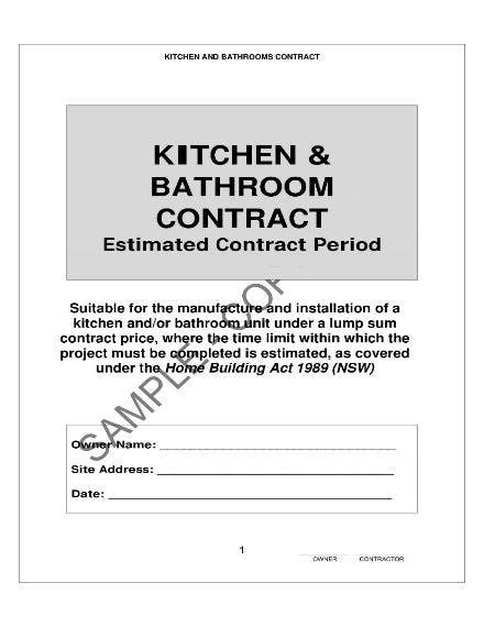 write  kitchen remodeling contract  templates