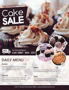 Cake Sale Flyer Design Template In Psd  Word  Publisher