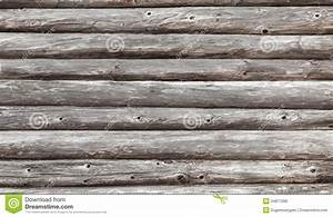 Wooden Wall Of Rural House Made Of Logs Royalty Free Stock ...