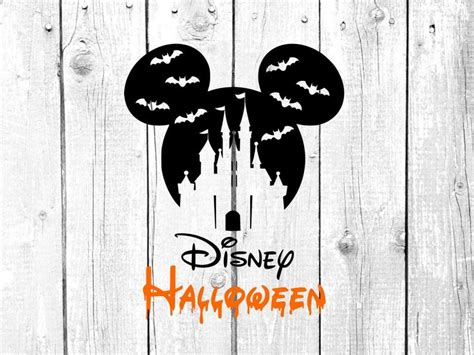 I thought this would look great with gold foil on a black tote. Disney halloween svg Disney vacation svg mickey mouse | Etsy