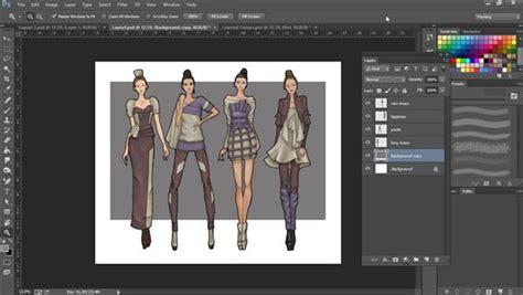 photoshop  fashion design rendering techniques