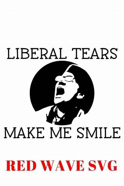 Svg Tears Liberal Trump Maga Landslide Clip