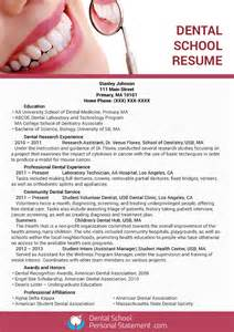 resume for dental school application dental school resume writing service can help you dental school personal statement