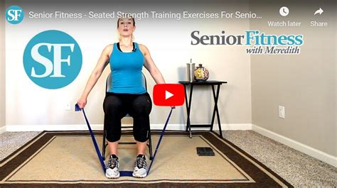 seniors senior exercises seated meredith resistance fitness bands using training strength