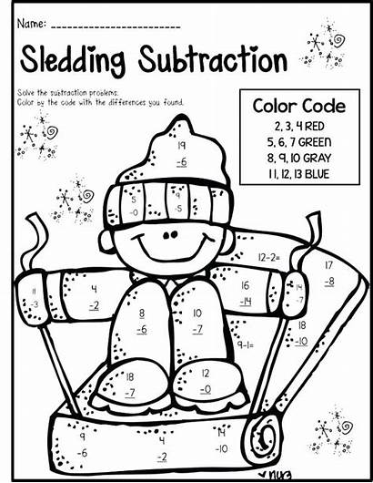 Coloring Pages Grade Math 1st Subtraction Printable