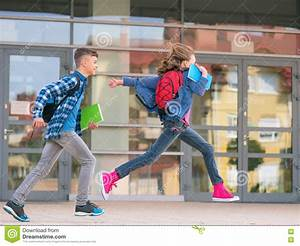 Children back to school stock photo. Image of jump ...