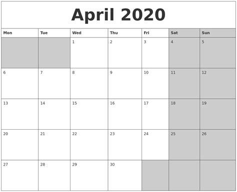 april calanders