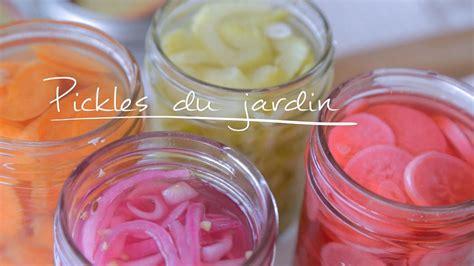 vinaigre blanc cuisine pickles du jardin cuisine futée parents pressés