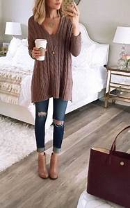 Cute Top Paired With The Distressed Skinny Jeans And Flats Pictures Photos and Images for ...