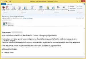 Telekom Deutschland Gmbh Rechnung Online : sperrung ihres anschlusses von telekom gmbh no reply bringt eine b sartige software ~ Themetempest.com Abrechnung