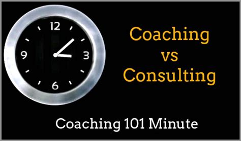 coaching  consulting whats  difference