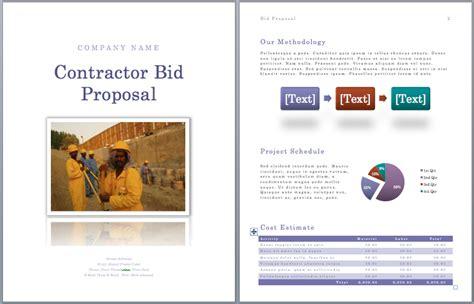 contractor bid 9 best images of tender template sle bid template tender application