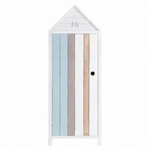 Armoire Bois Blanc : armoire enfant en bois blanc oc an maisons du monde ~ Teatrodelosmanantiales.com Idées de Décoration