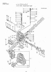 parts for yanmar 3tne84 ybc With fuel pump drawing