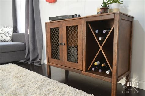 diy wooden sideboardrecord cabinet  wine rack