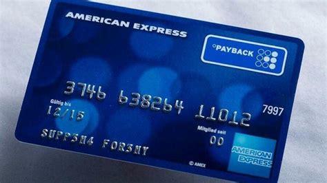 Payback American Express Karte Kosten