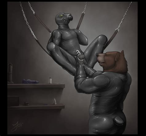 Rule 34 Balls Bear Bondage Bound Brown Fur Canine Cock